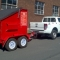 Trailer Trash 4m skip bin with new logos
